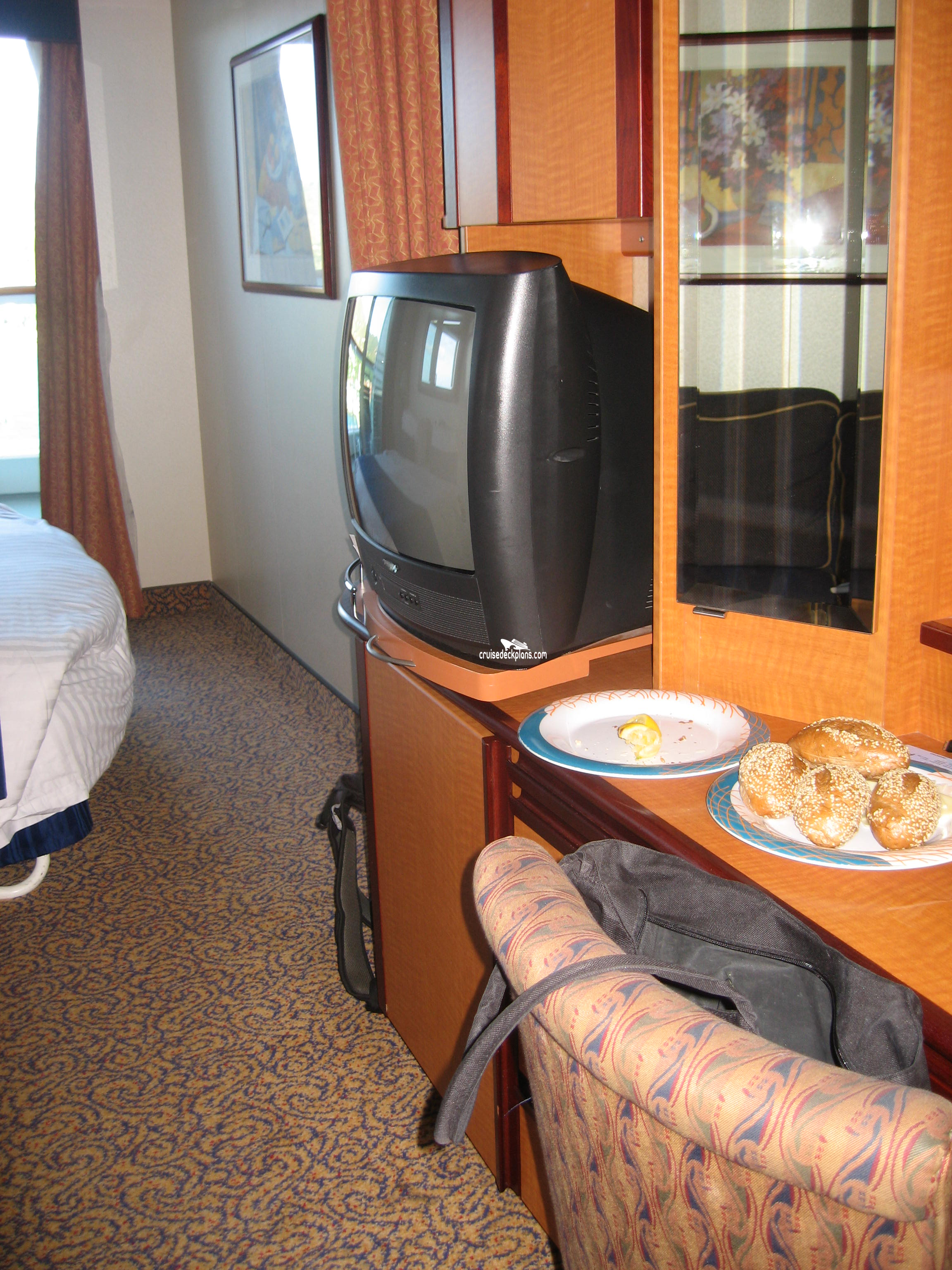Aft Port Side On Deck 8   It Is A Very Nice, Quiet Cabin. Balcony Is Huge    Not As Deep As The Center Aft Balconies, ...