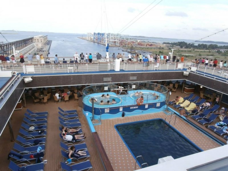 Carnival Glory Azure Lido Pool Pictures