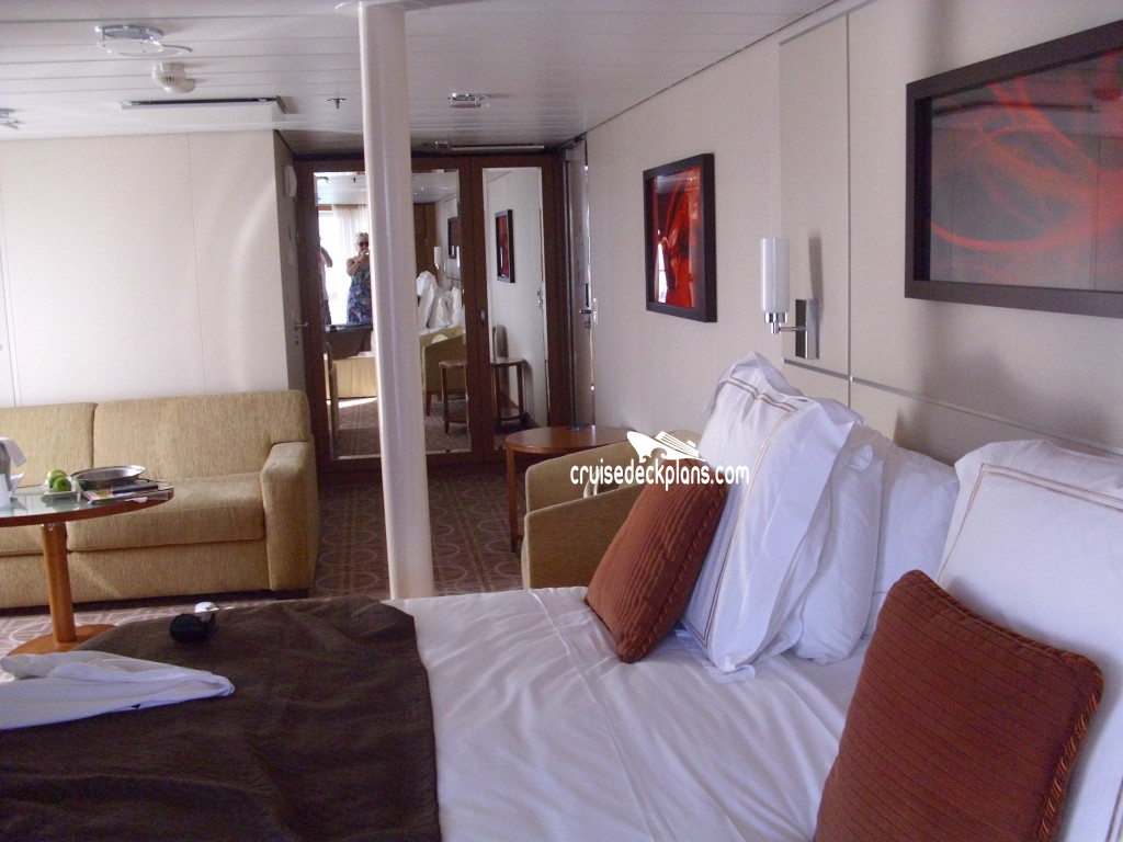 Celebrity Silhouette Sky Suite Stateroom - Cruise Deck Plans