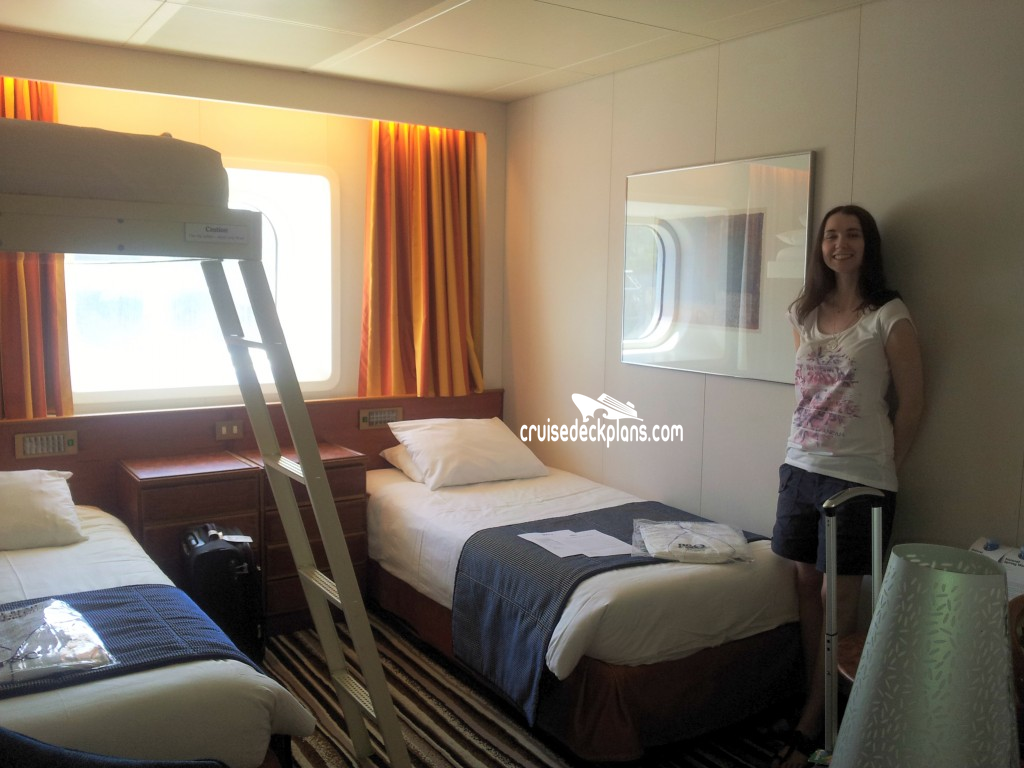 Pacific jewel oceanview category for P o cruise bedrooms