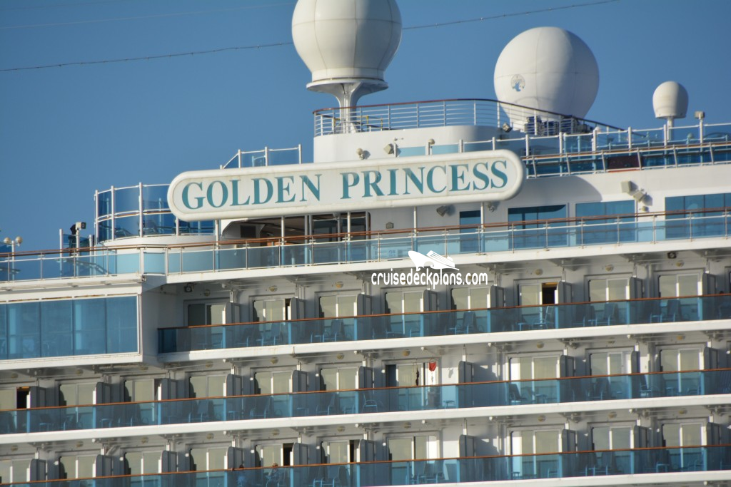 Golden Princess Emerald Deck Plan Tour