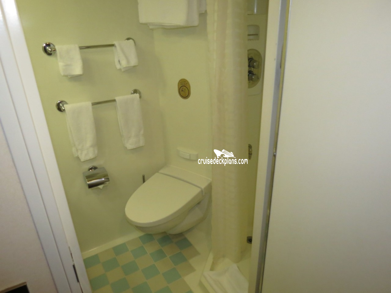 Cabin inside bathroom - Stateroom Picture