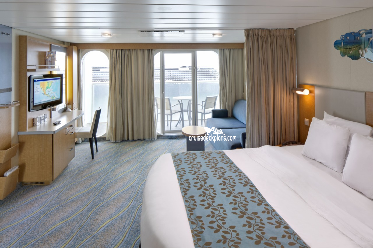 Allure of the seas deck plans diagrams pictures video for Balcony stateroom