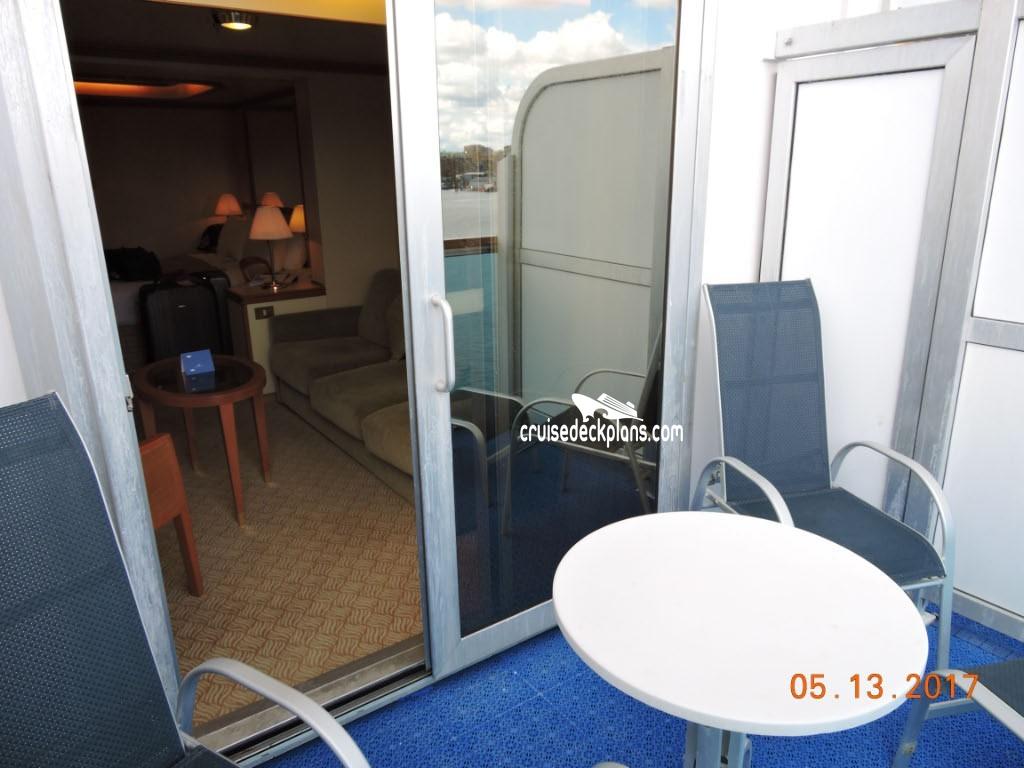 Mini Suite Balcony Cabin Picture Emerald Princess Deck