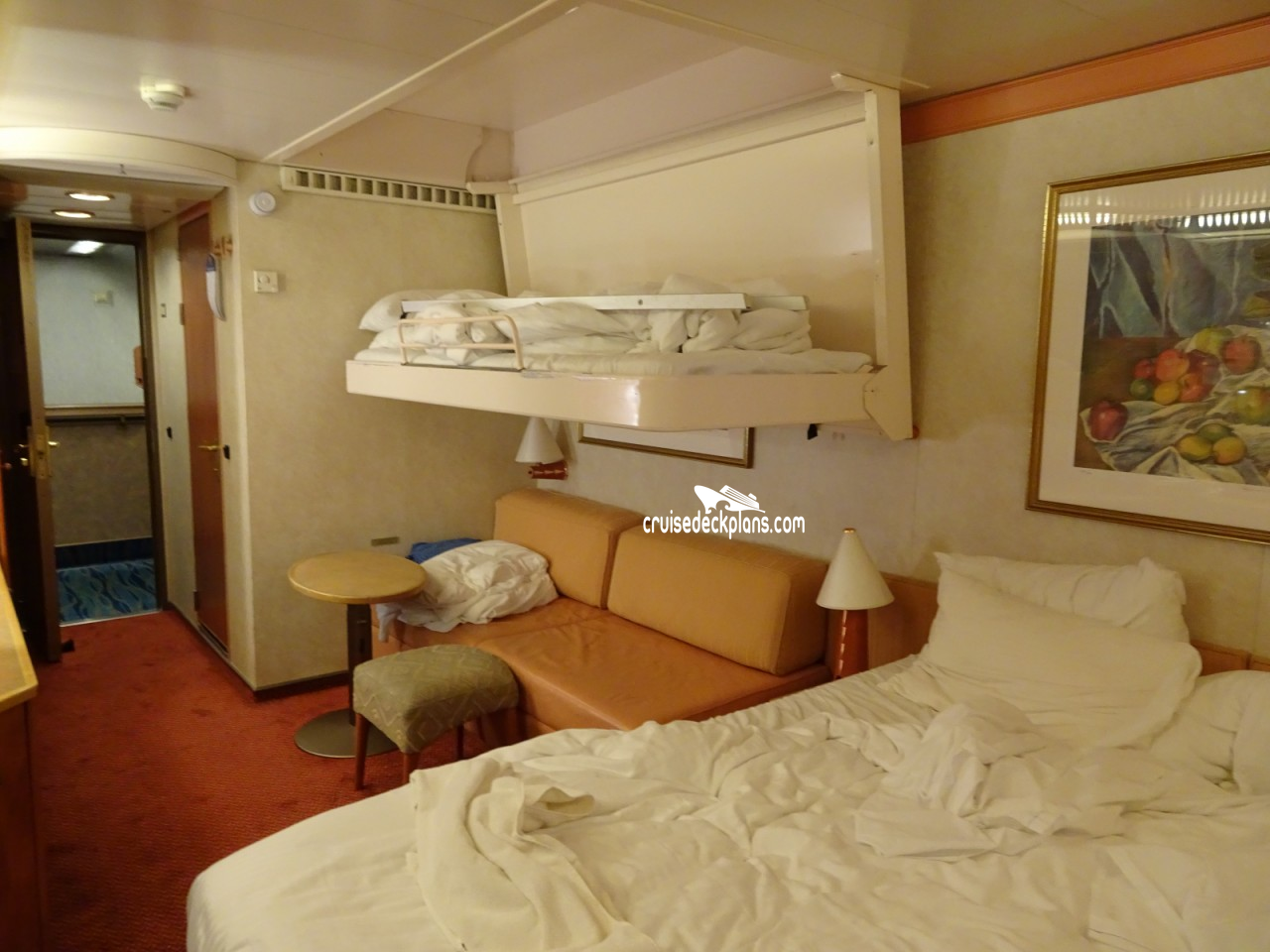 Carnival Pride Interior Stateroom With French Doors