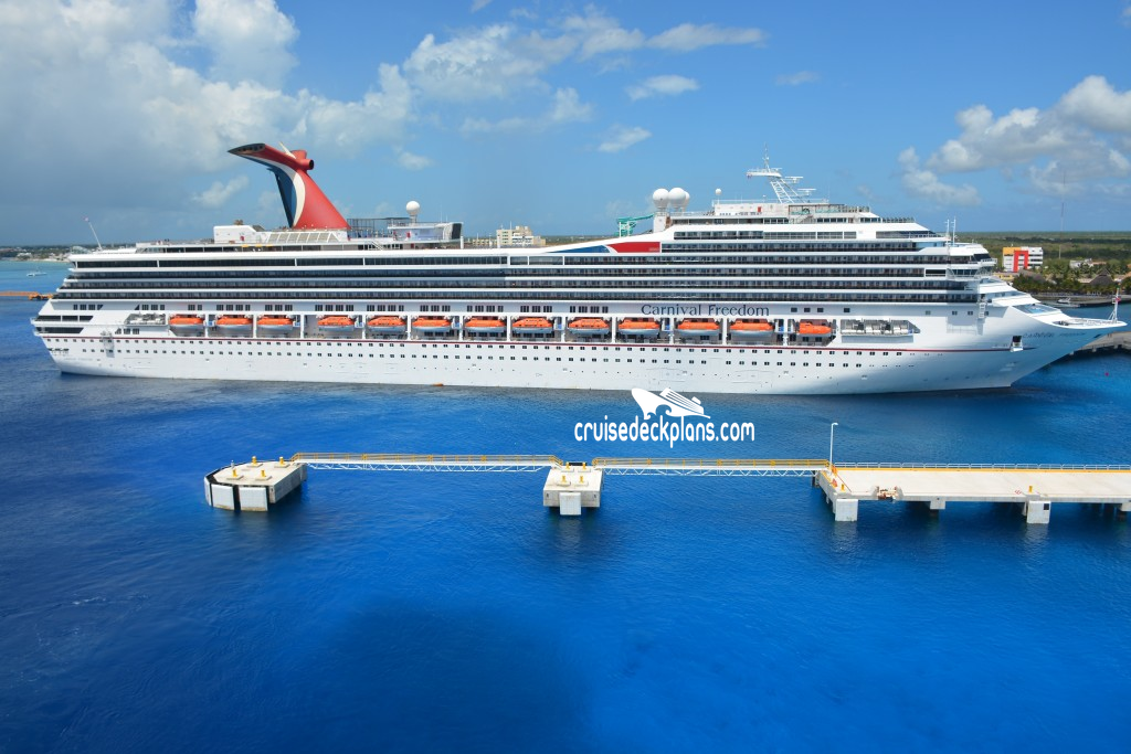 Carnival Freedom Main Deck Plan Tour