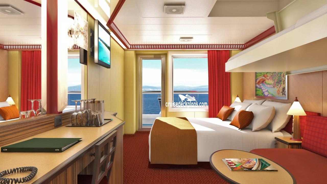 Carnival dream balcony stateroom for Dream cabins