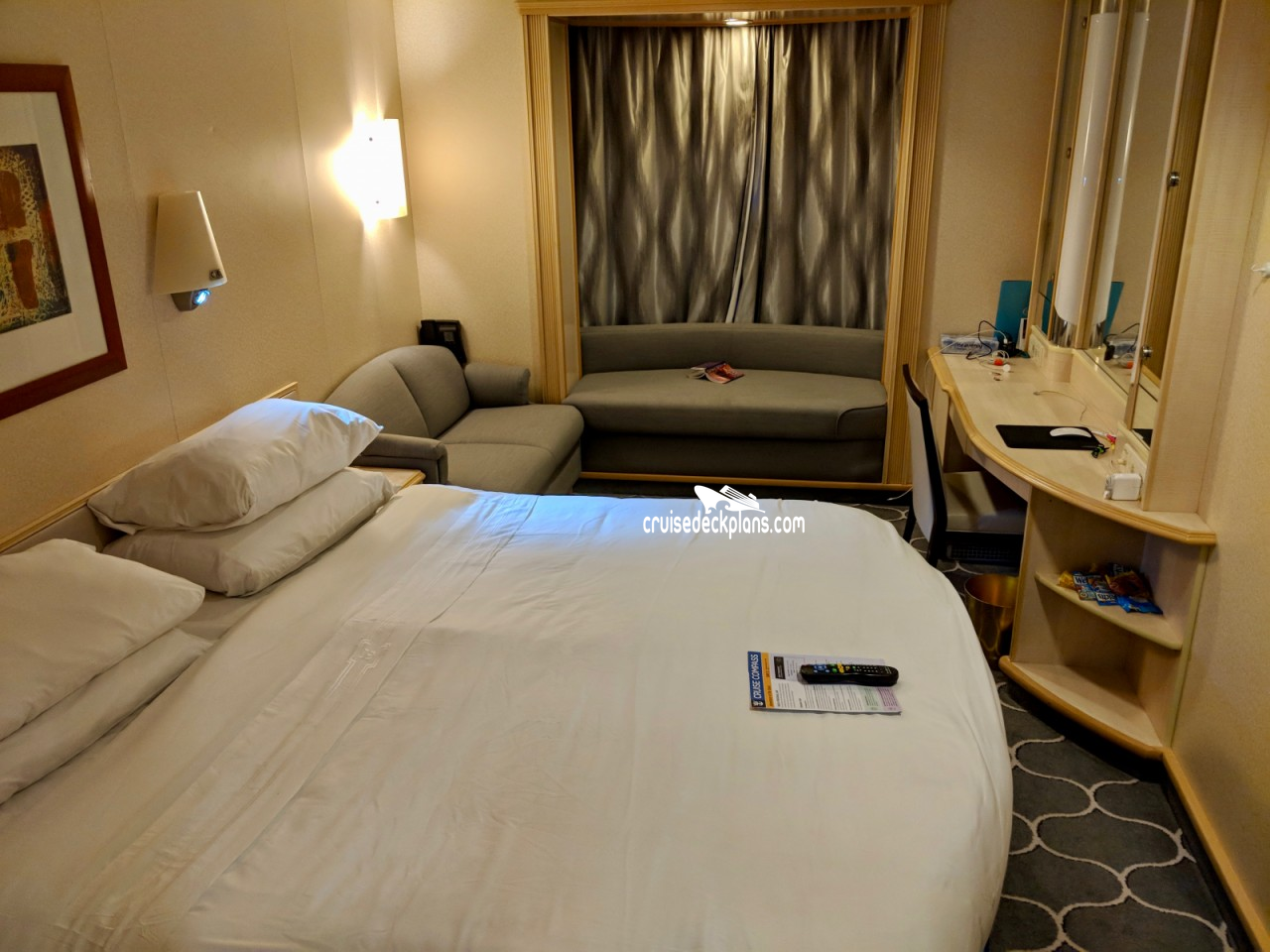 Promenade View Interior Stateroom Picture Uploaded on 09/09/18Photos courtesy of Louis Panagiotopoulos. Cabin 7553.Promenade View Interior Stateroom Picture ...