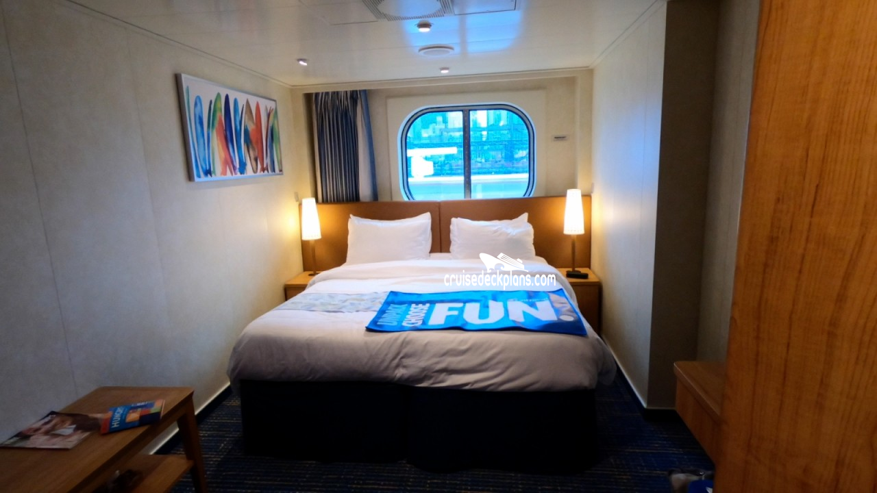 Carnival Horizon Interior With Picture Window Stateroom