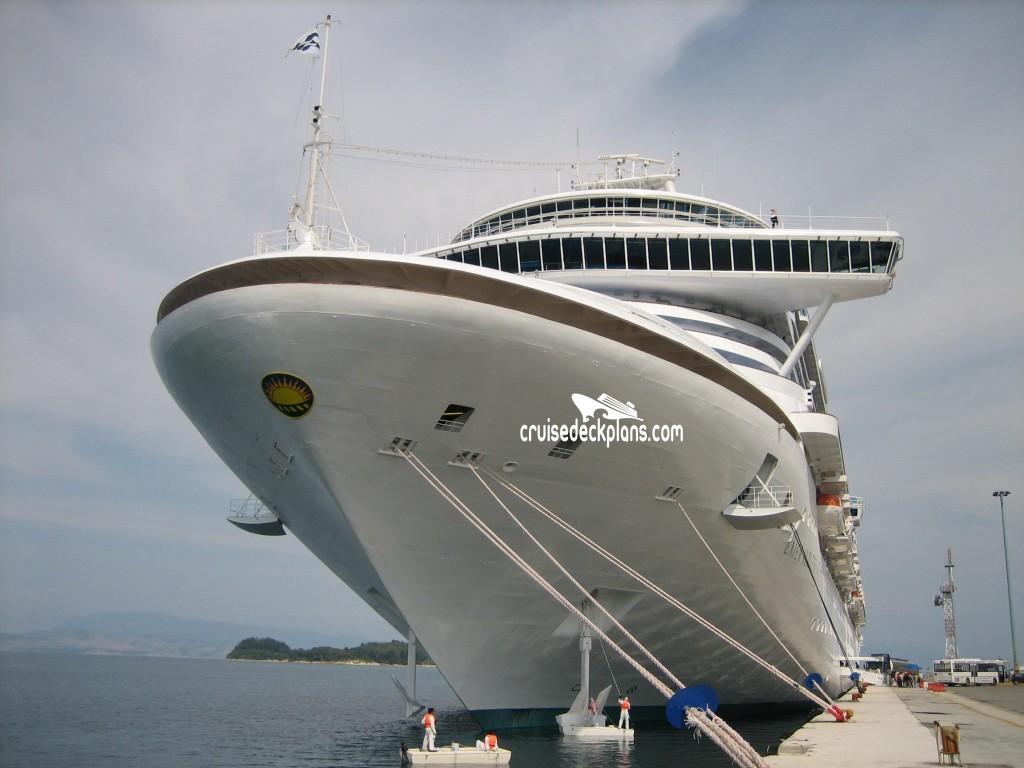 Emerald Princess Cruise Ship Reviews And Deals Dolphin Deck Plan Tour