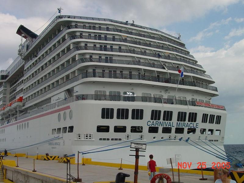 Carnival Miracle Panorama Deck Plan Tour