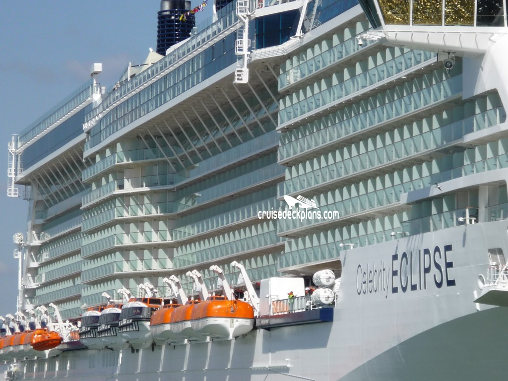 Celebrity Cruises Eclipse Deck Plan