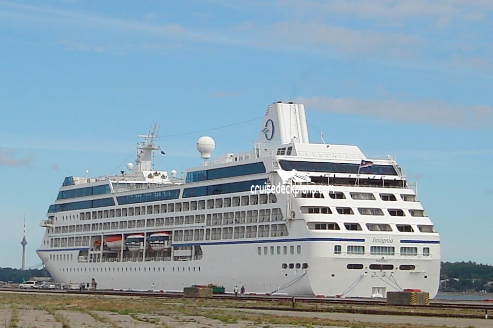 Insignia Deck Deck Plan Tour - Insignia cruise ship