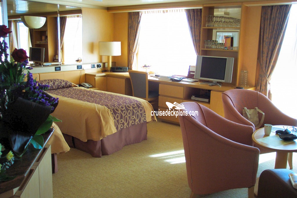 Stateroom picture for Arcadia deck plans