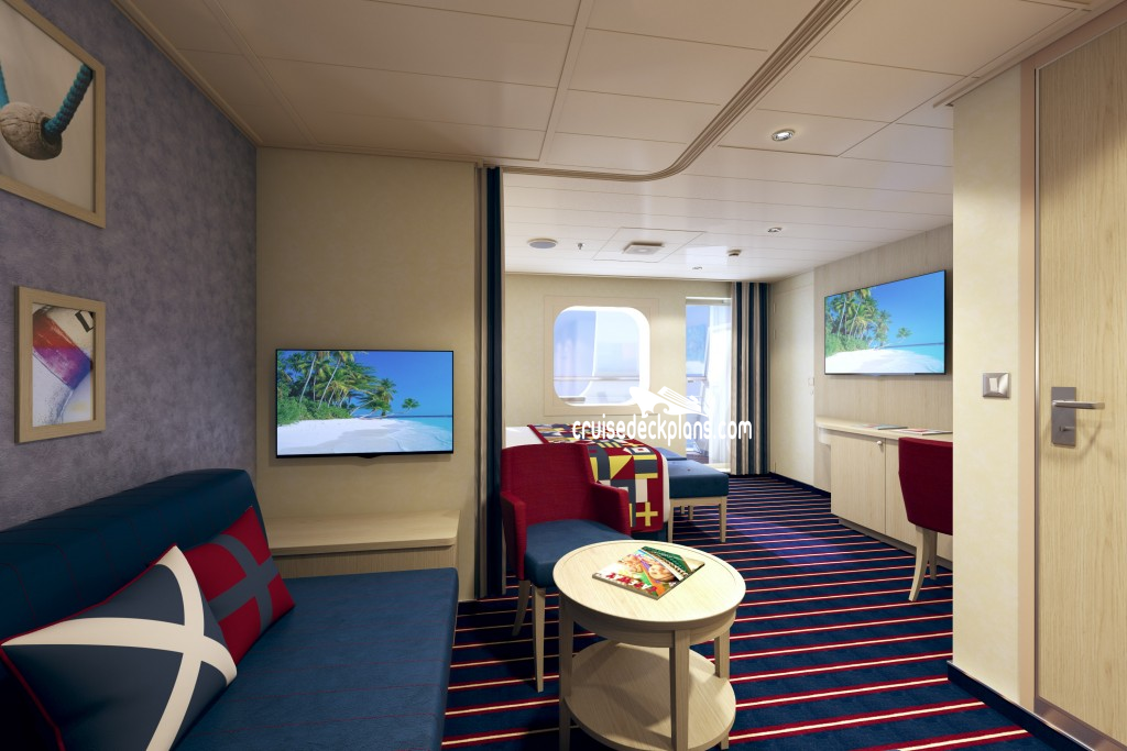 Carnival vista deck plans cabin diagrams pictures for Cruise balcony vs suite