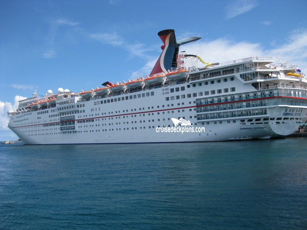 Carnival Ecstasy Deck Plans Diagrams Pictures Video