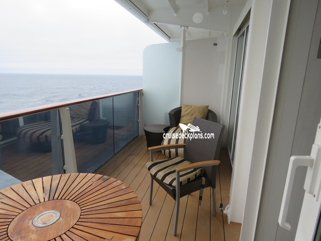 Celebrity Solstice Sky Suite Stateroom - Cruise Deck Plans