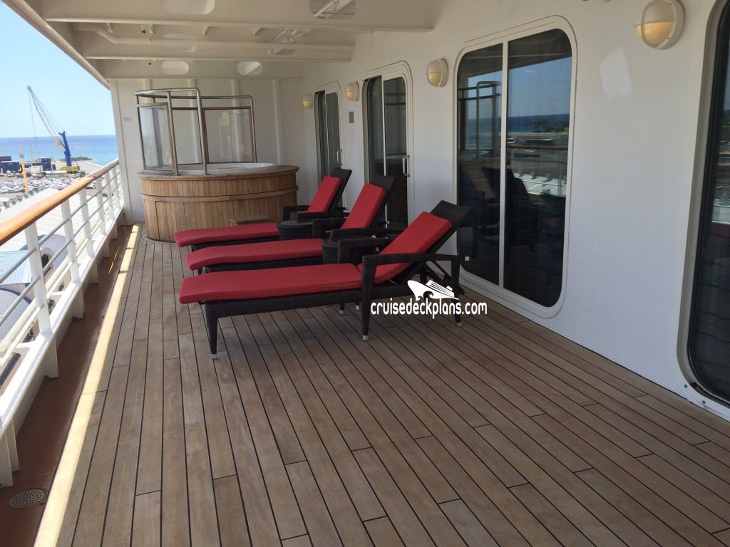 Pride of america deluxe owners suite category for Cruise balcony vs suite