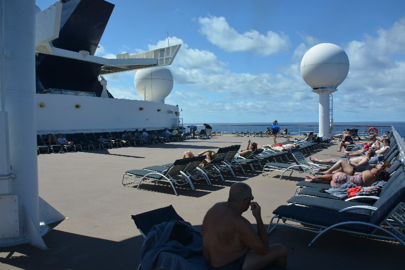 Aft sun deck on Celebrity Summit
