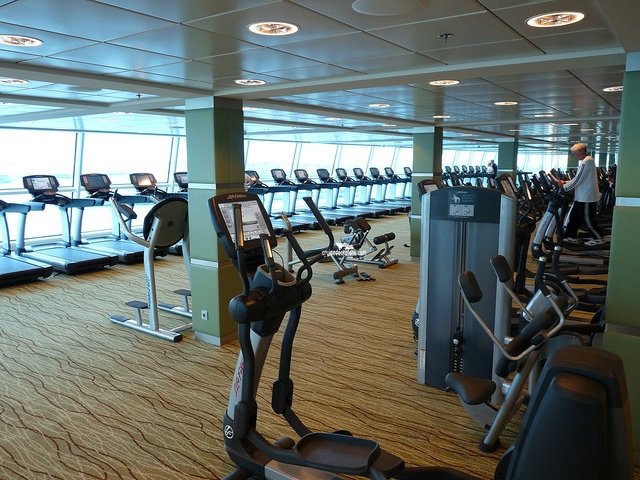 Fitness center with thermal suite, treatment rooms, hair salon, barber ...