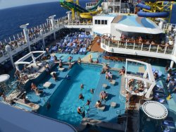 Norwegian Escape Main Pool Cindy Miller