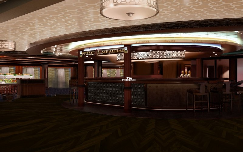 Norwegian Escape Prime Meridian Bar