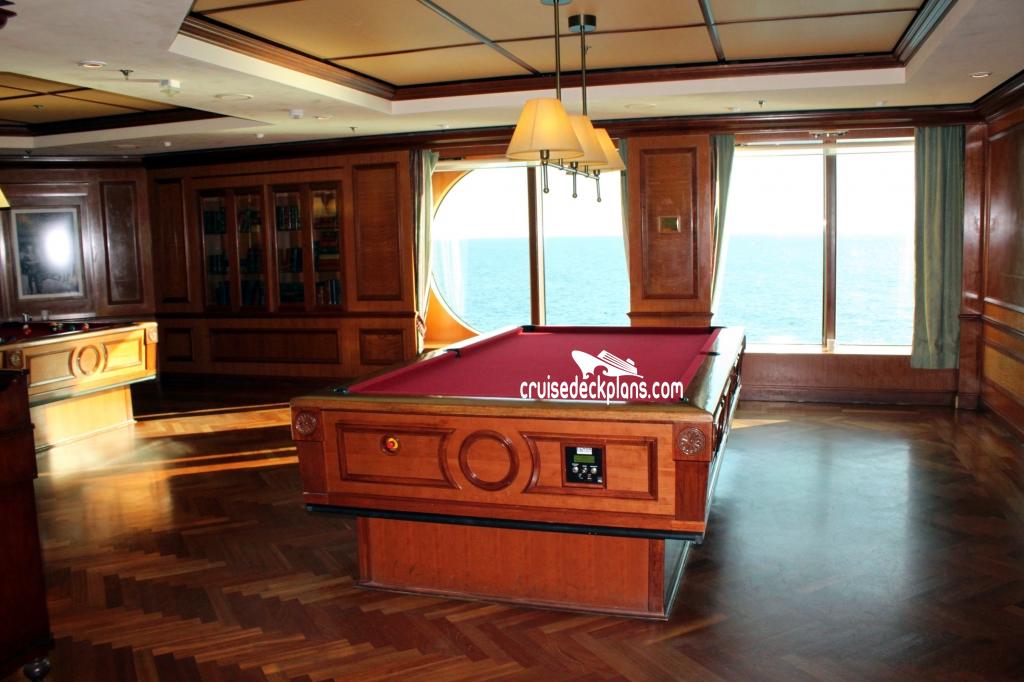 Radiance Of The Seas Bombay Billiard Club - Cruise ship pool table