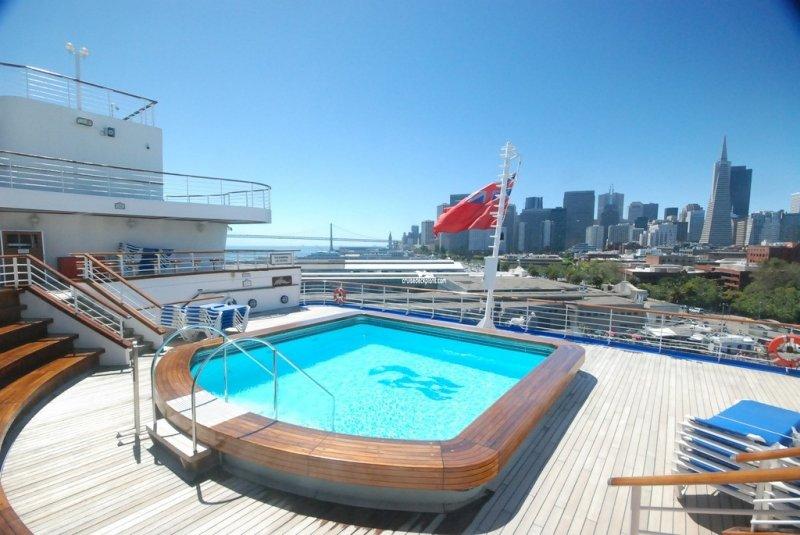 Luxury Grand Sunset Princess All Suites resort in Playa ... |Pool Terrace Grand Princess