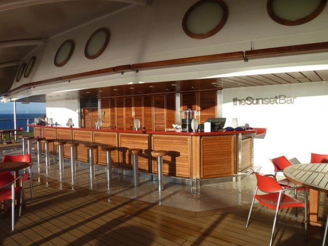 Celebrity Eclipse sunset bar