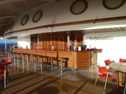 Celebrity Eclipse sunset bar Crissy
