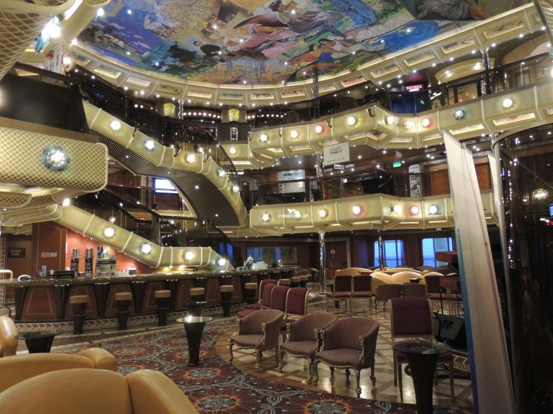 Carnival Conquest Artists Lobby