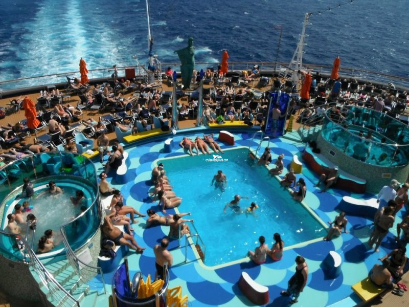 carnival dream sunset pool pictures