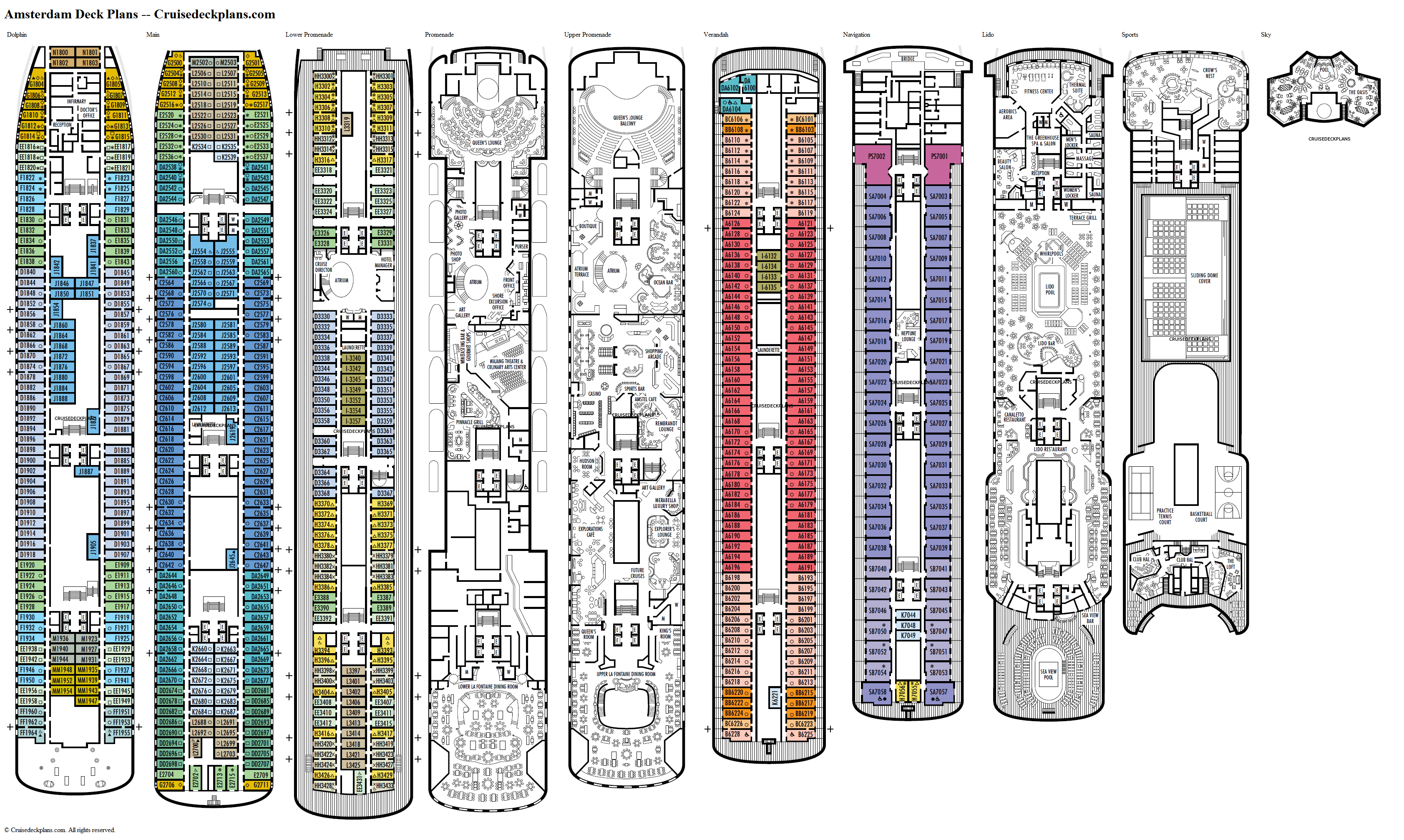 Amsterdam deck plans image