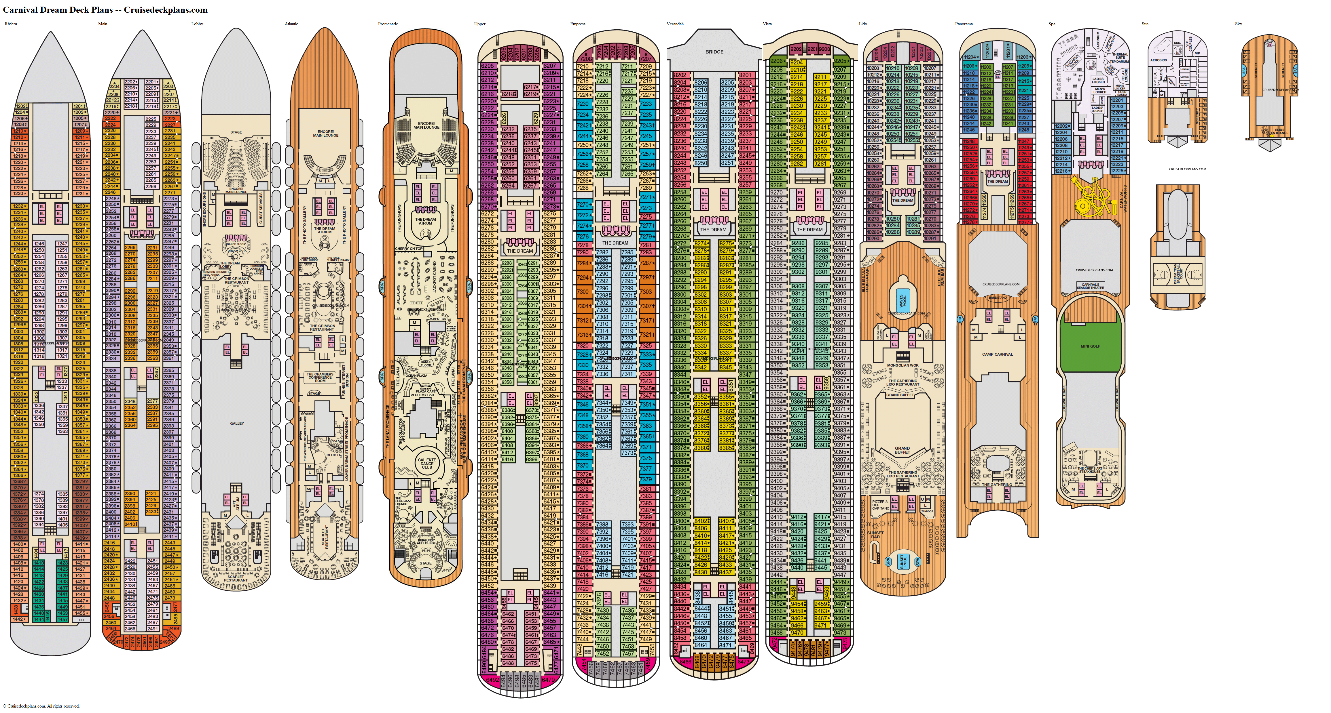 Carnival Dream deck plans image
