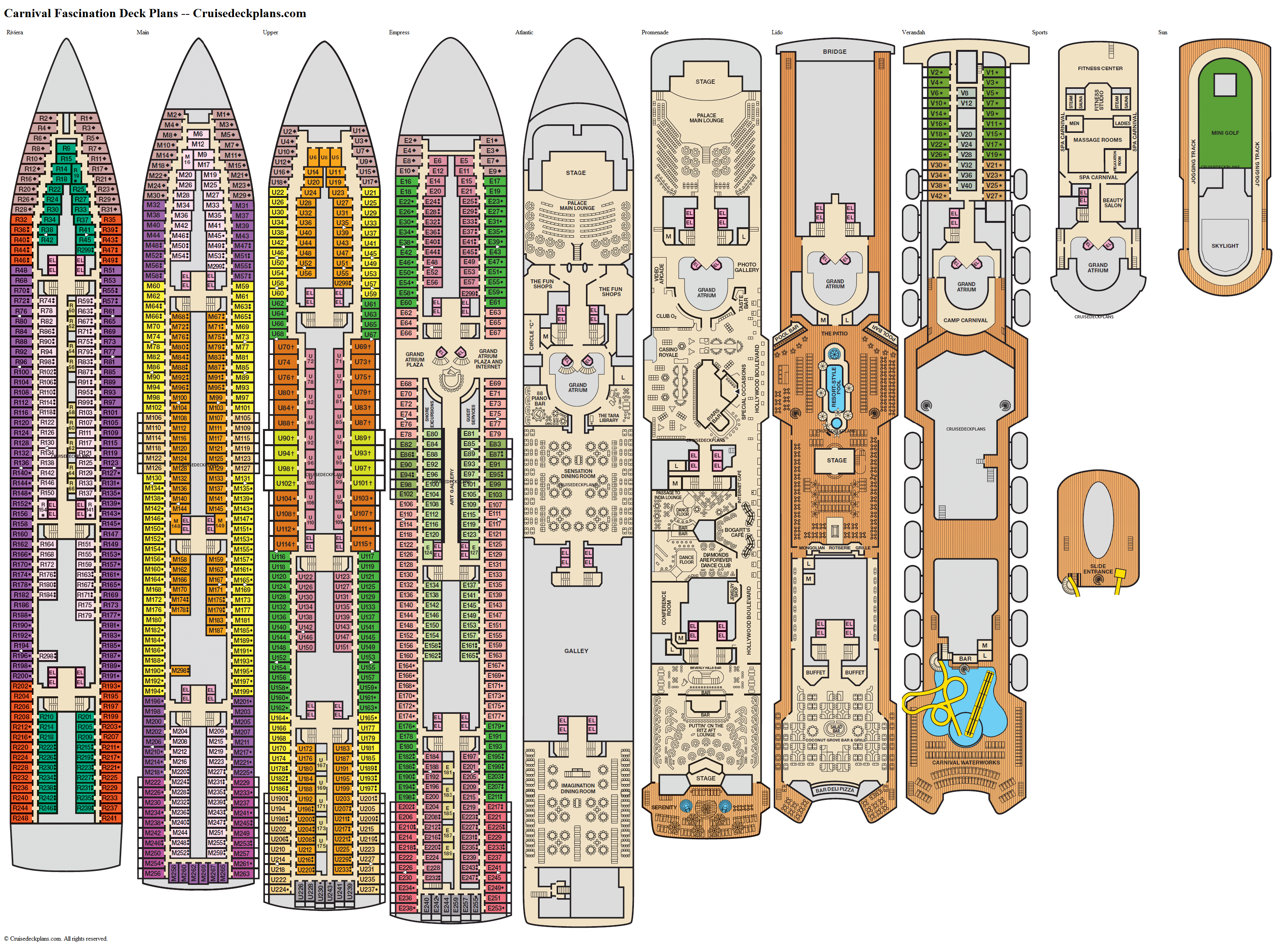 Carnival Fascination deck plans image