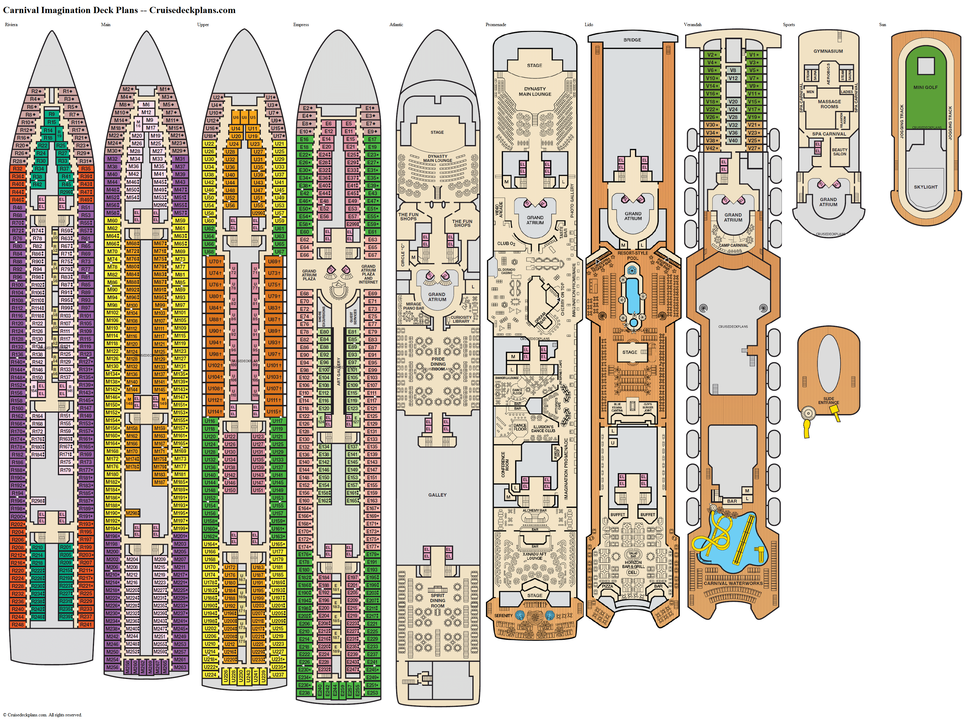 Carnival Imagination deck plans image