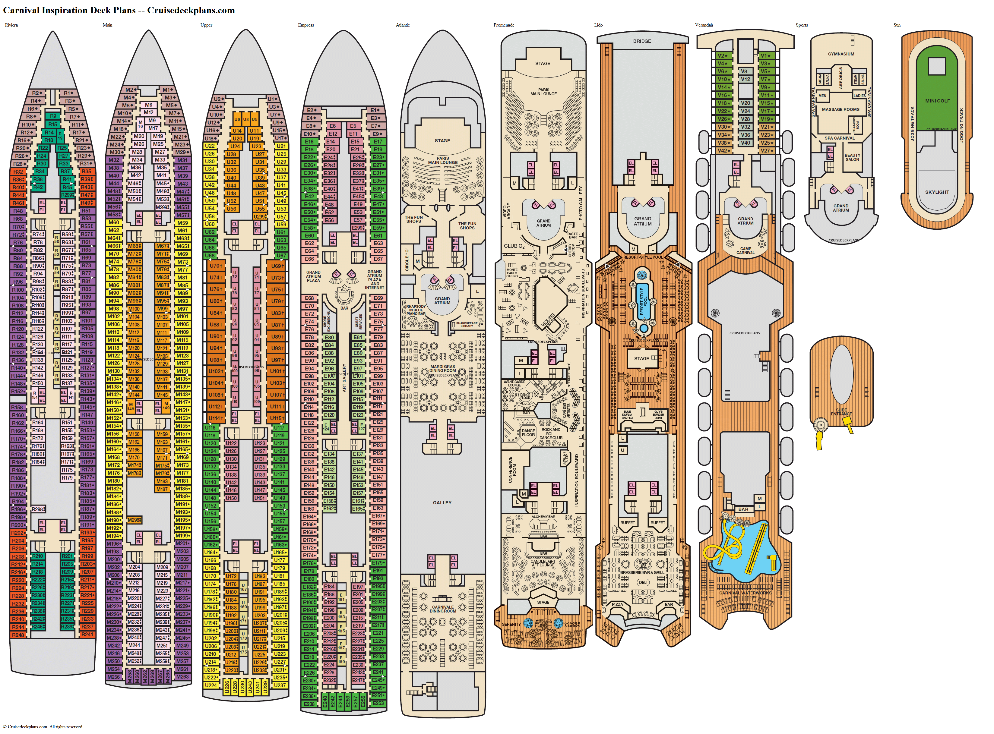 Carnival Inspiration deck plans image