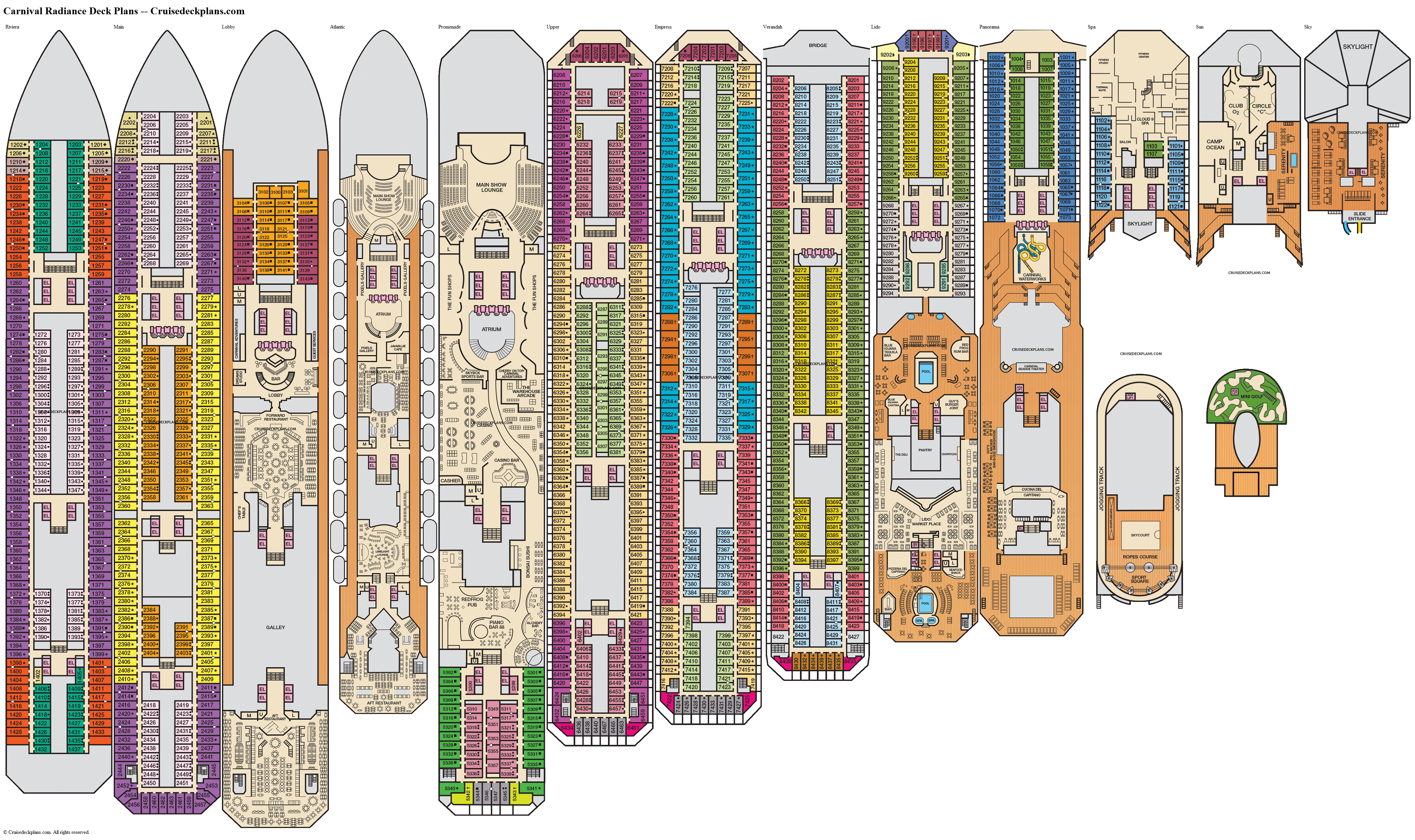 Carnival Radiance deck plans image