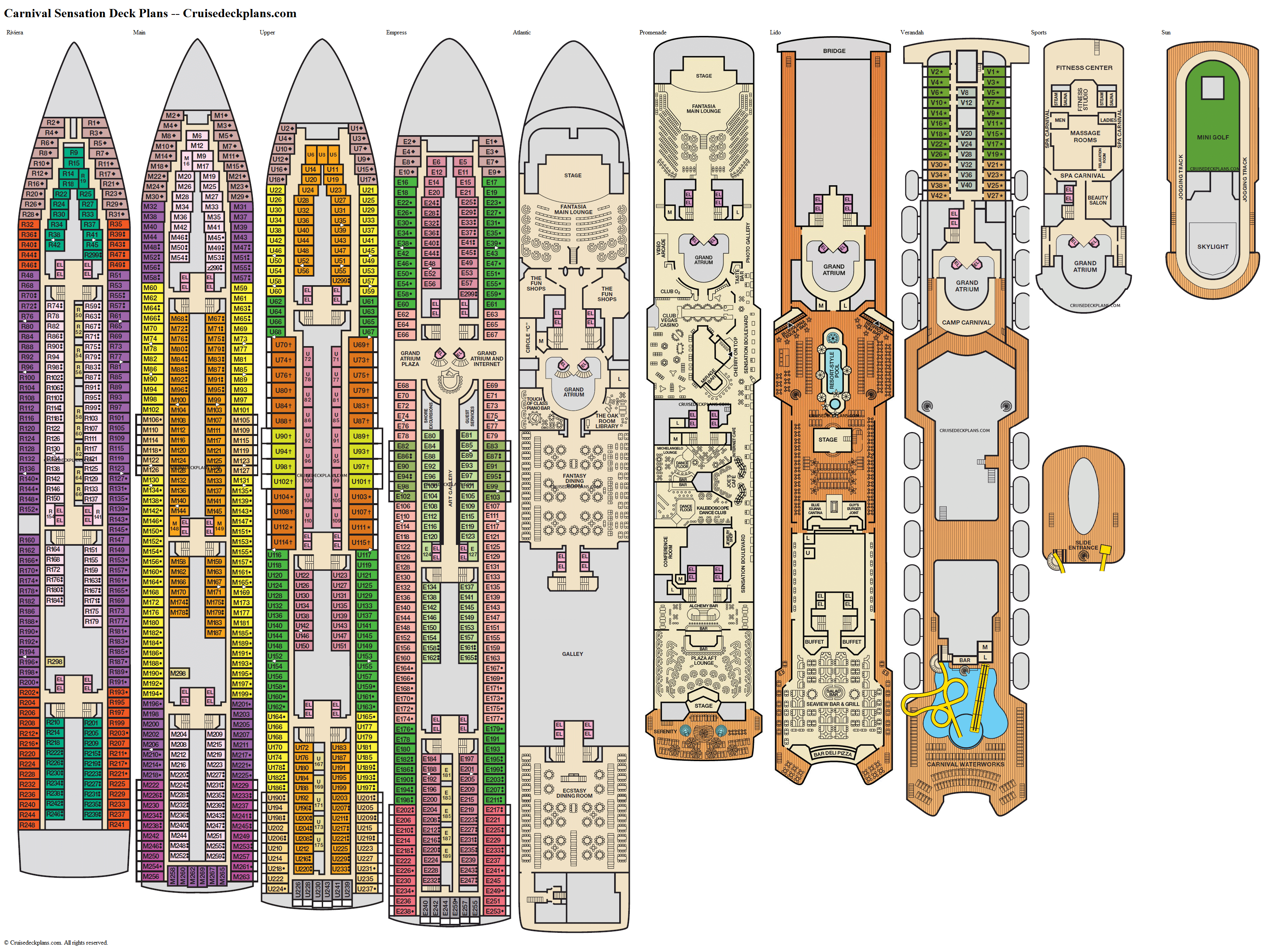 Carnival Sensation deck plans image
