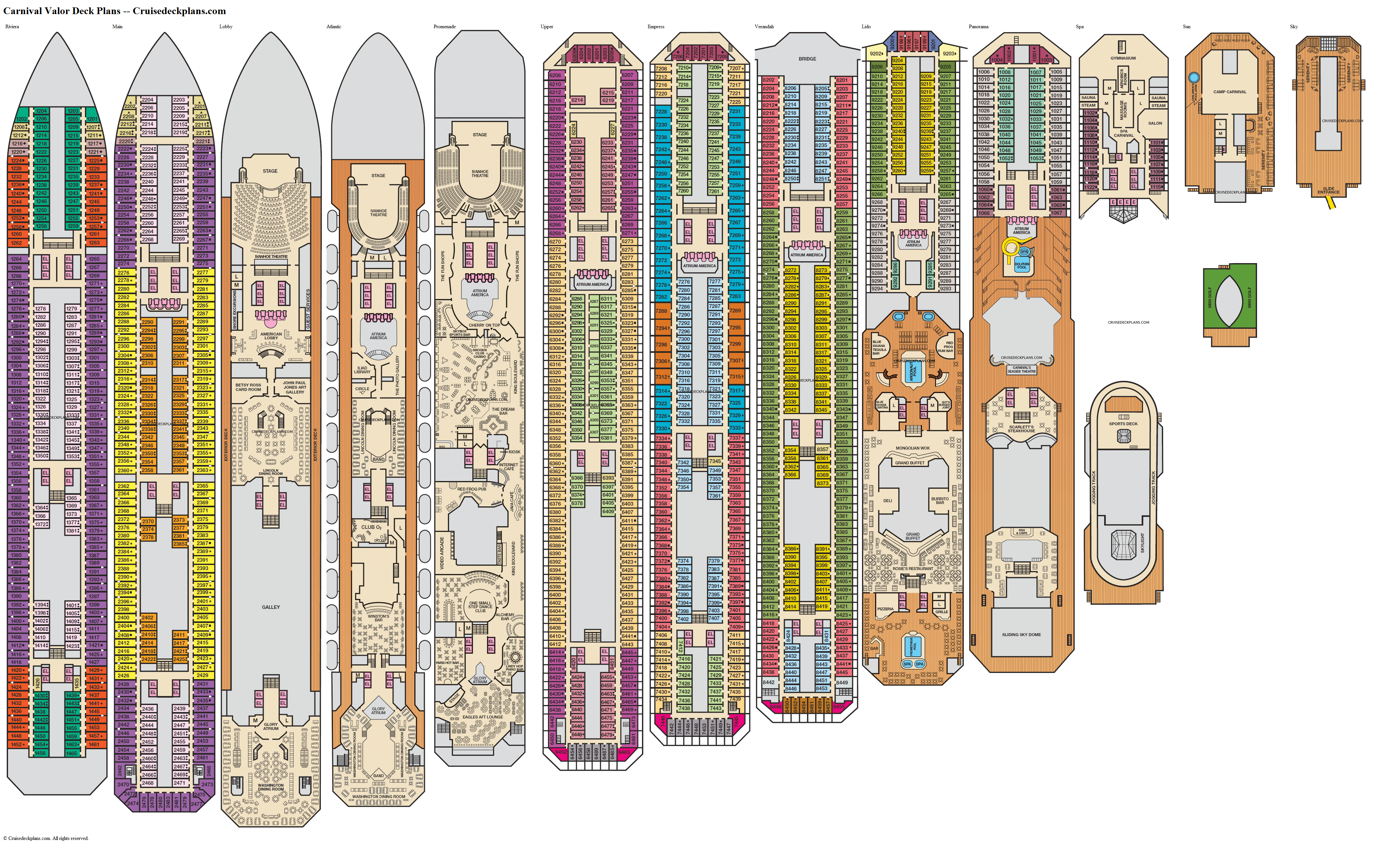 Carnival Valor deck plans image