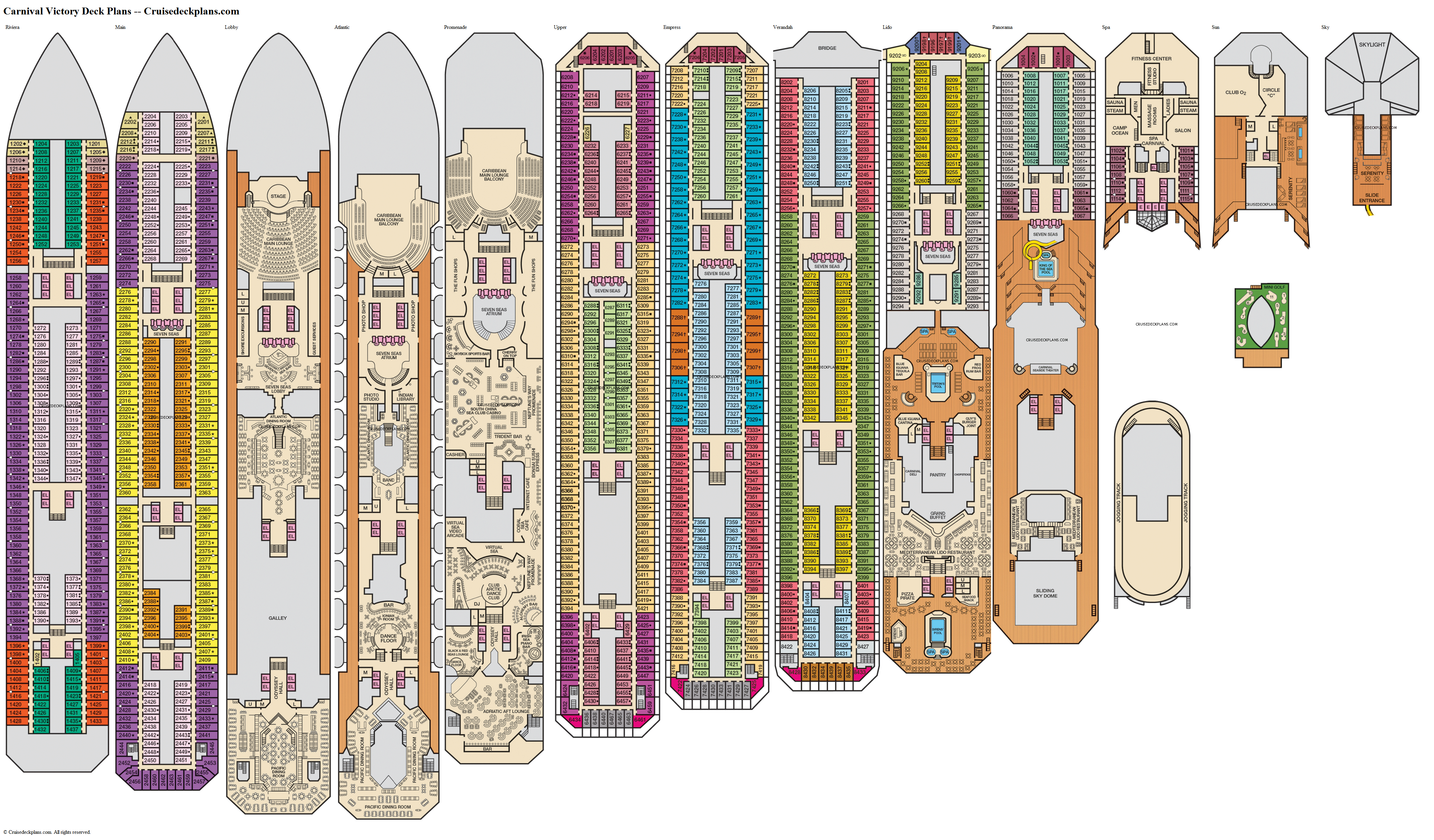 Carnival Victory deck plans image