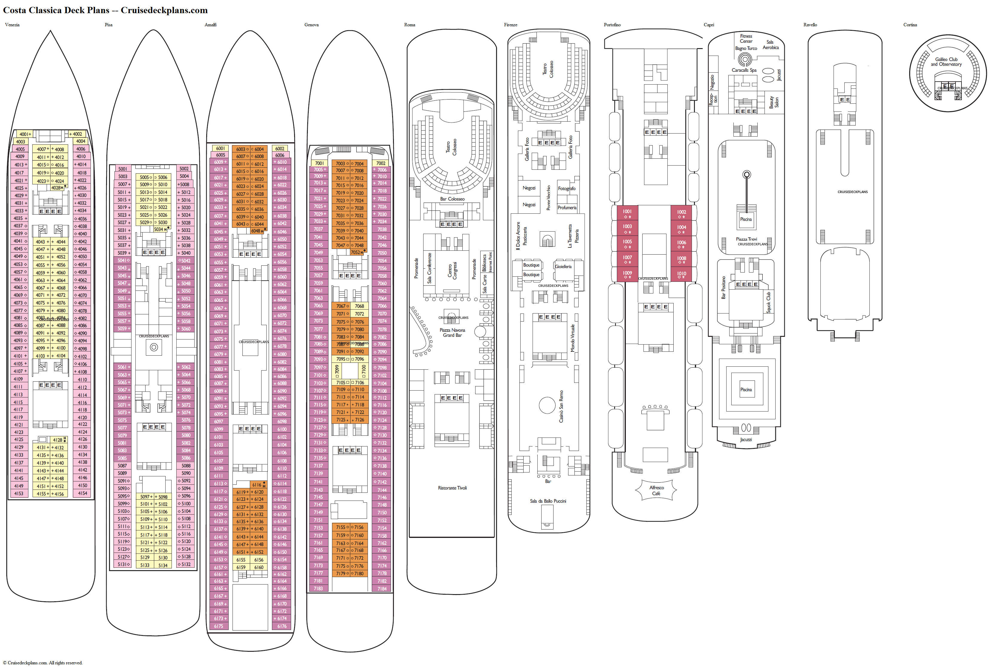 Costa Classica Deck Plans Diagrams Pictures Video