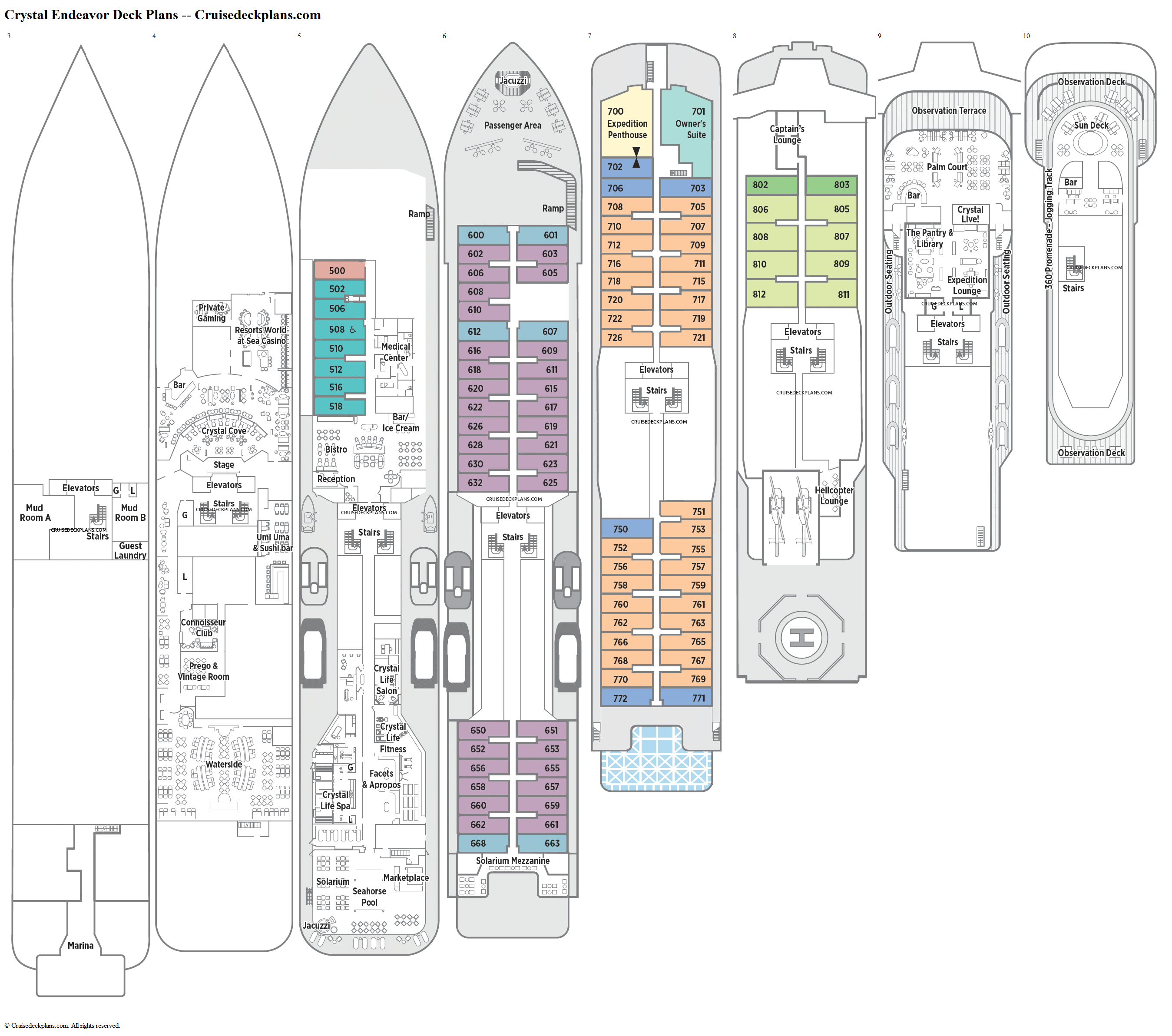 Crystal Endeavor deck plans image