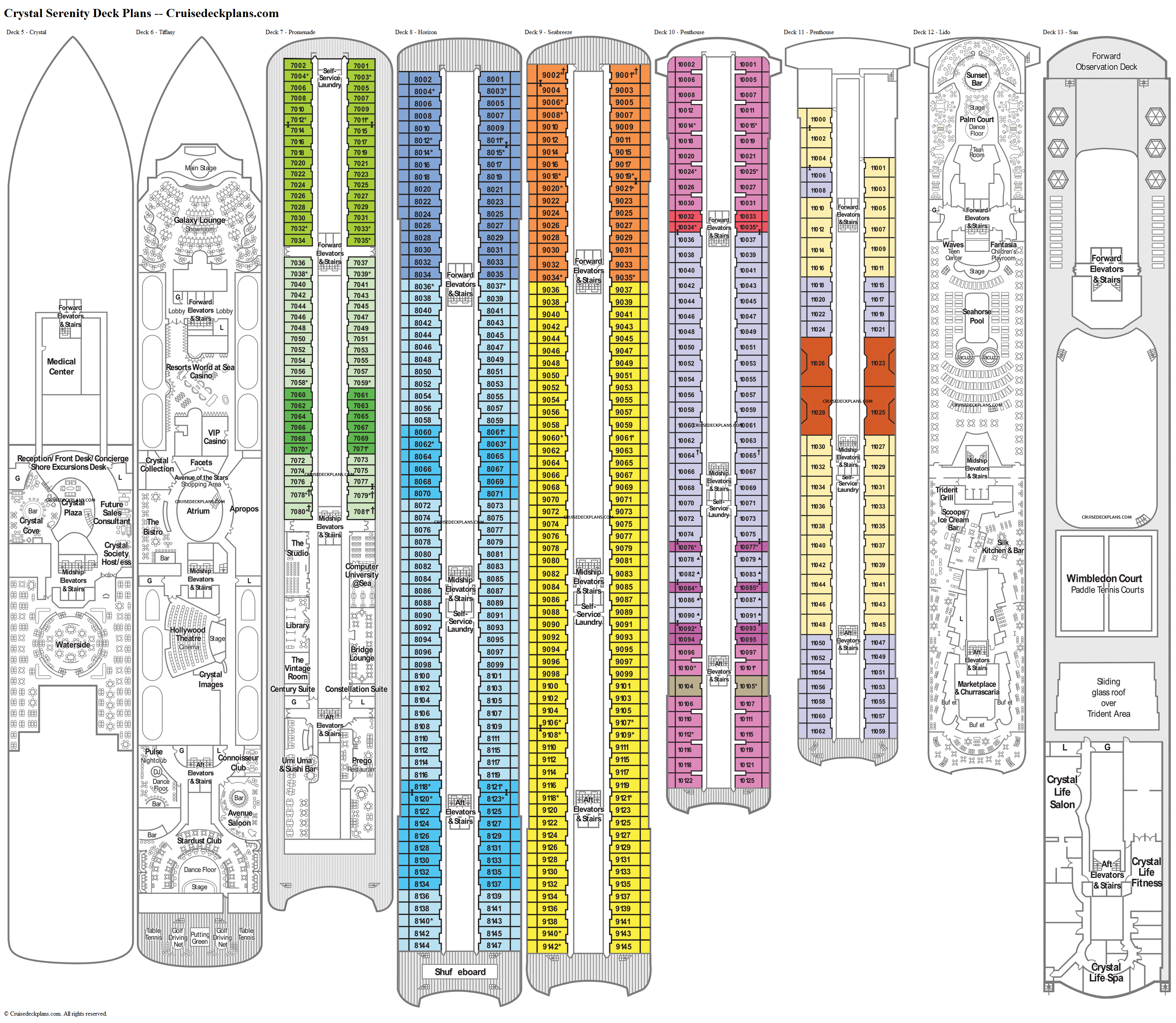 Crystal Serenity deck plans image