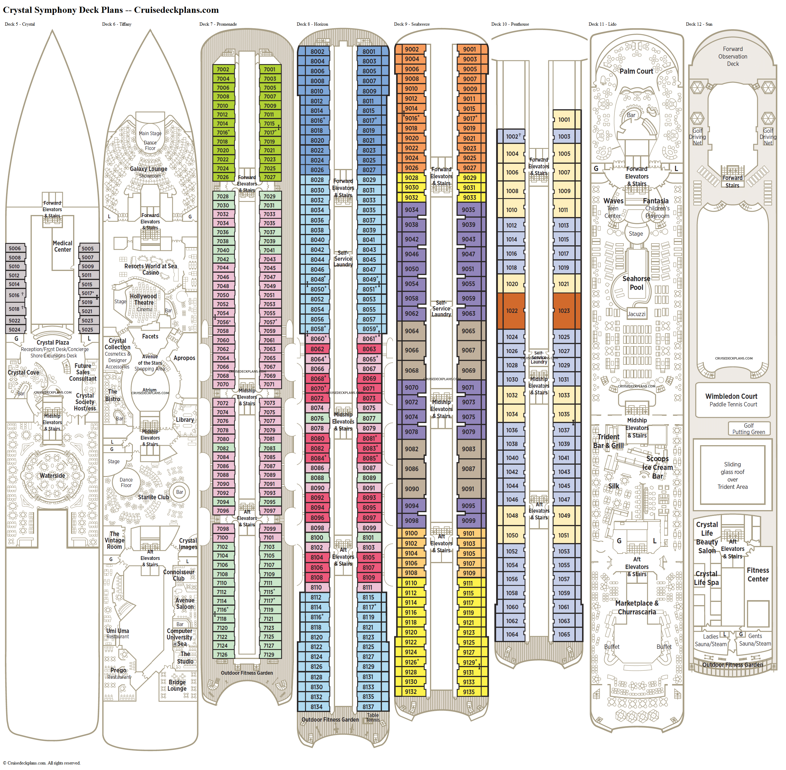 Crystal Symphony deck plans image