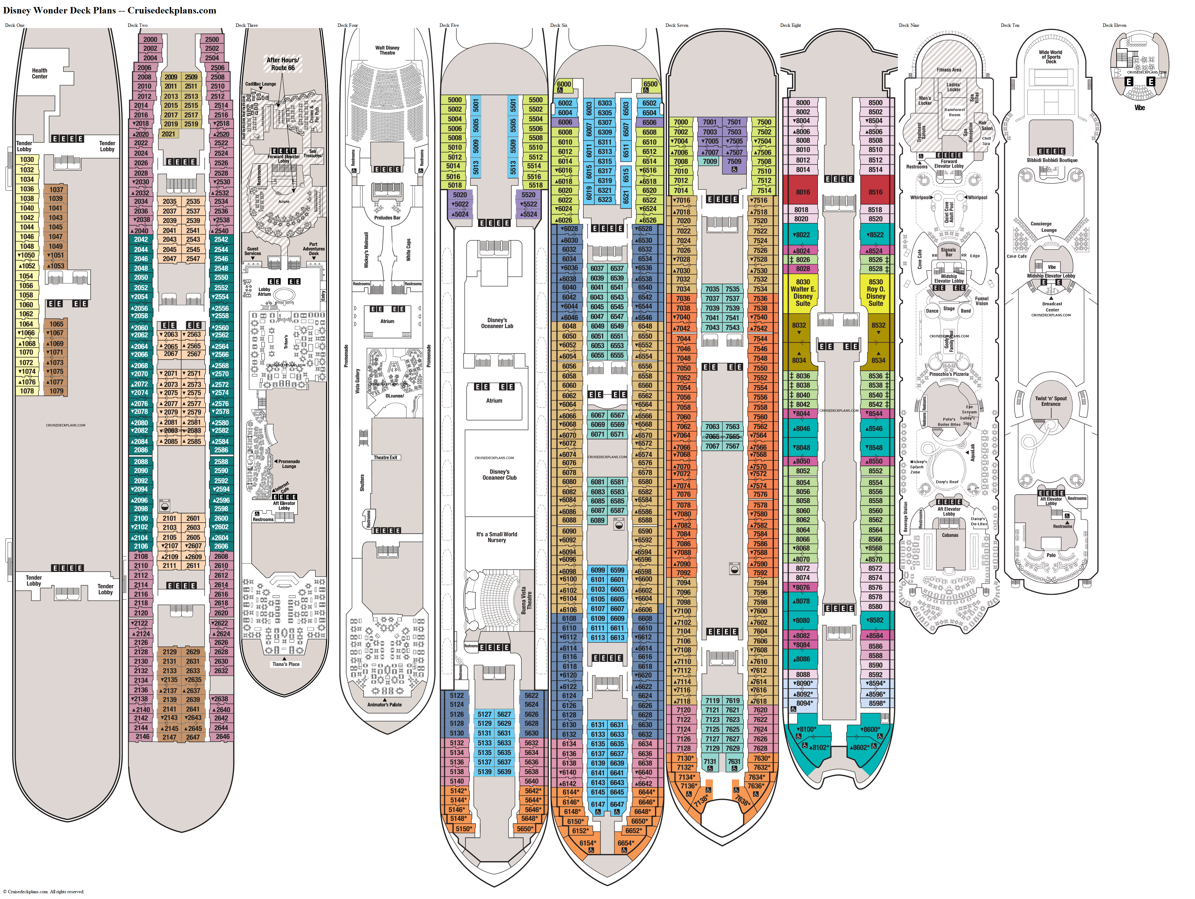 Disney Wonder deck plans image