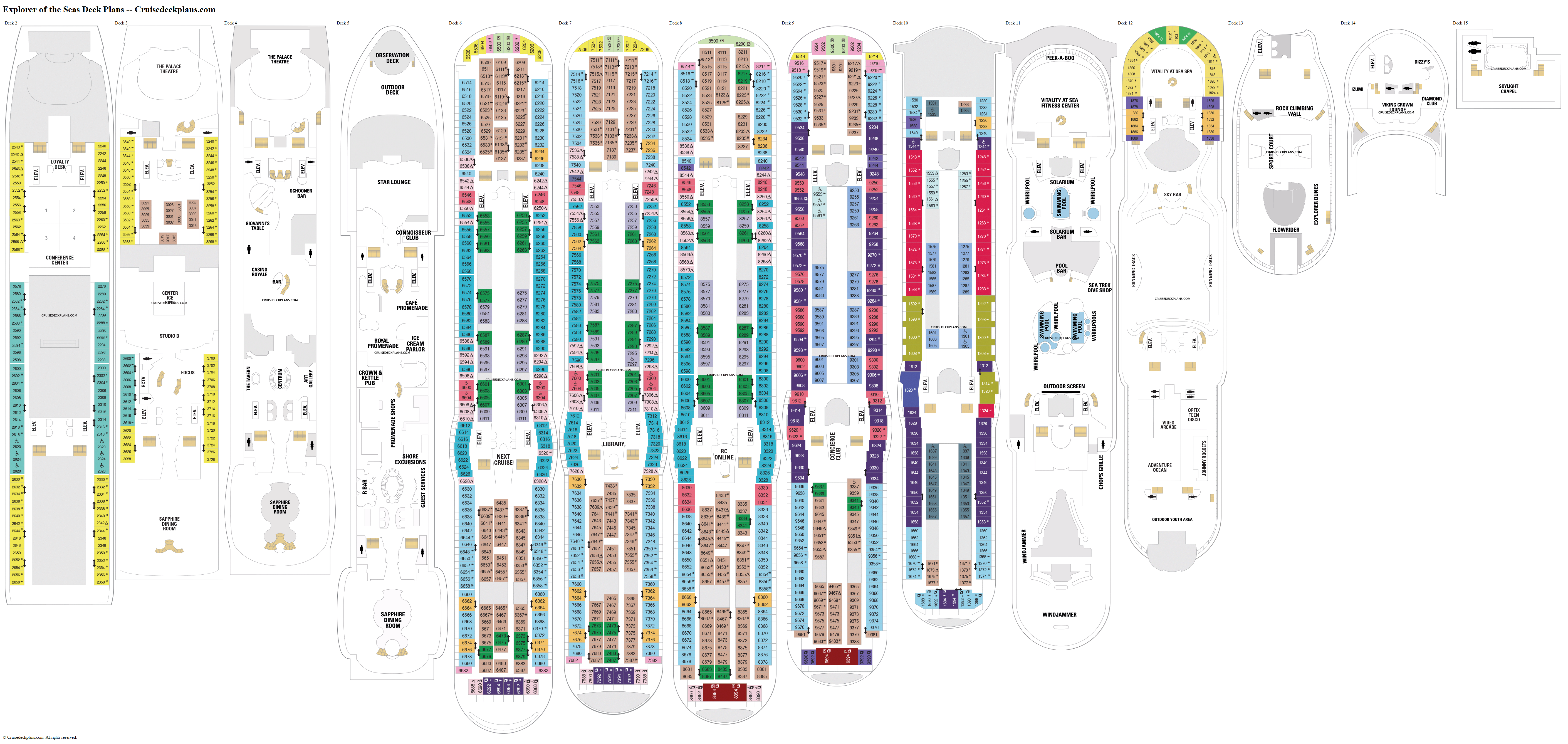 Explorer of the Seas deck plans image