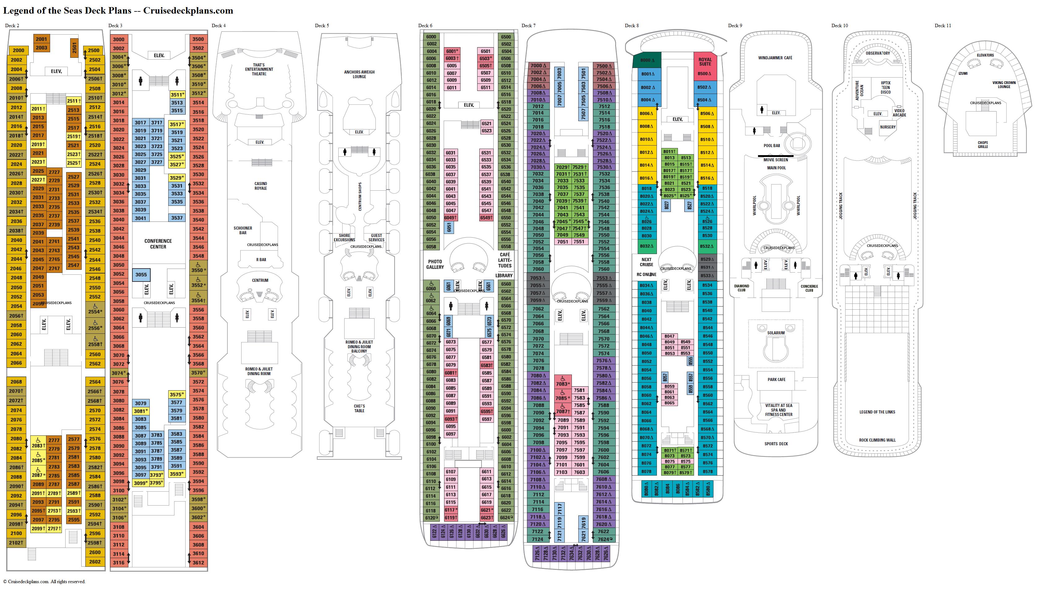 Legend Of The Seas Deck 6 Deck Plan Tour