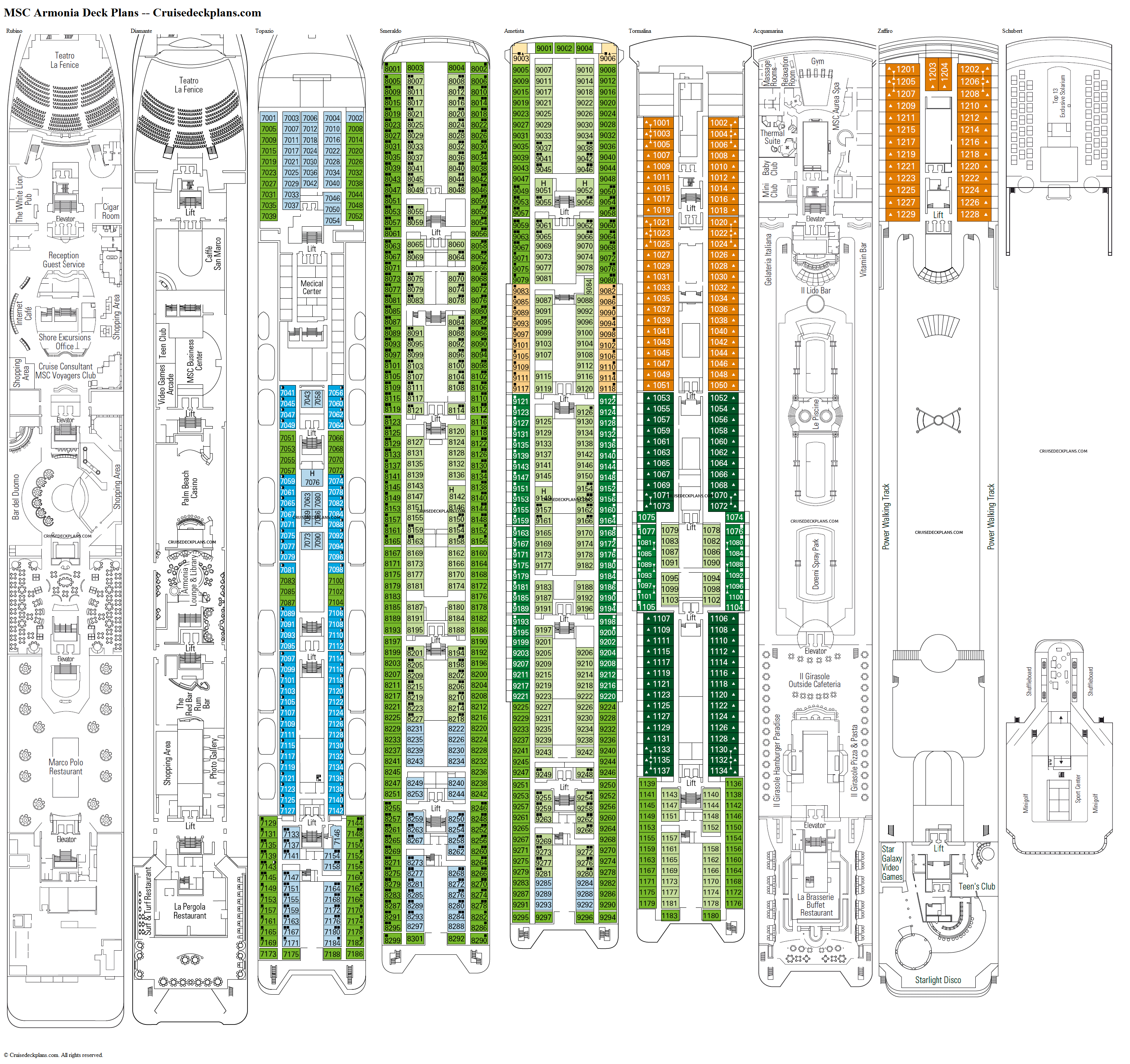 MSC Armonia deck plans image
