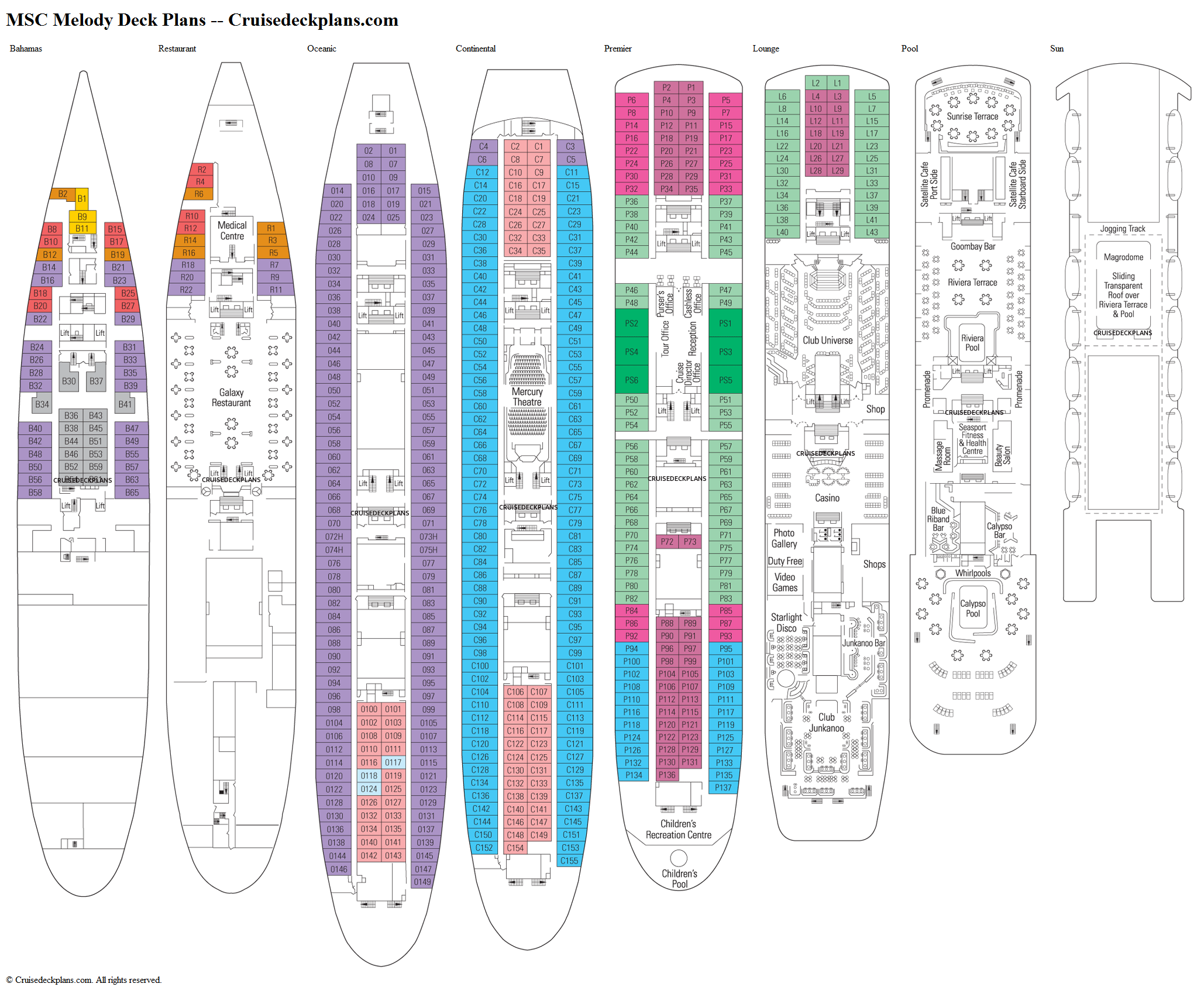 Deck Plan Nieuw Amsterdam
